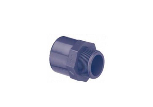 PVC puntstuk recht met 6-kant 63/75MM x 1 1/4''