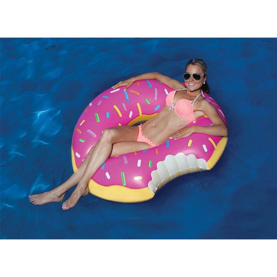 Opblaasbare zwemband aardbeien donut-4