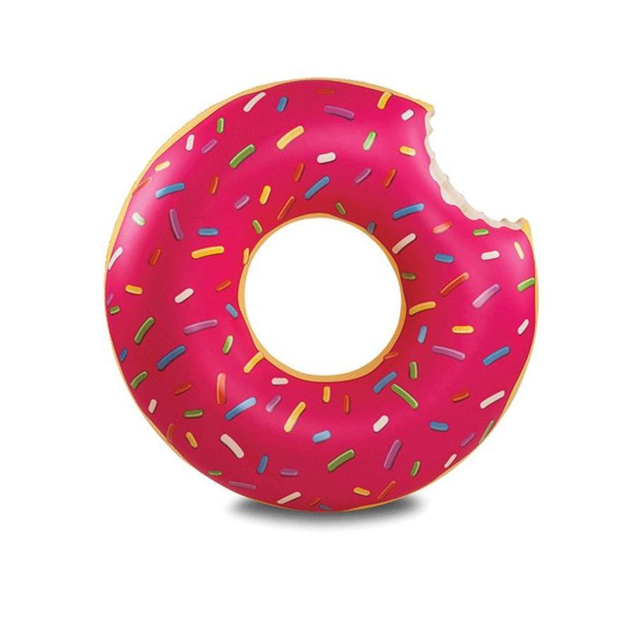 Opblaasbare zwemband aardbeien donut-3