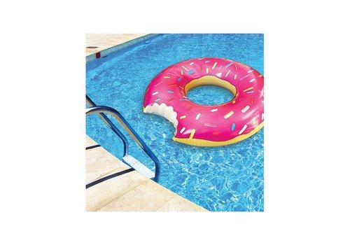 Opblaasbare zwemband aardbeien donut