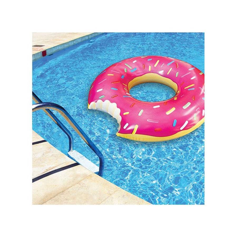 Opblaasbare zwemband aardbeien donut-2