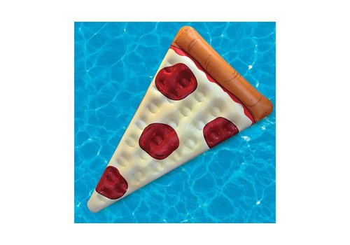 Opblaasbaar luchtbed pizza slice