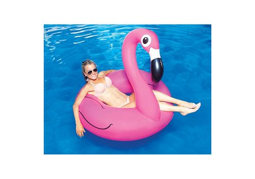 Opblaasbare roze flamingo