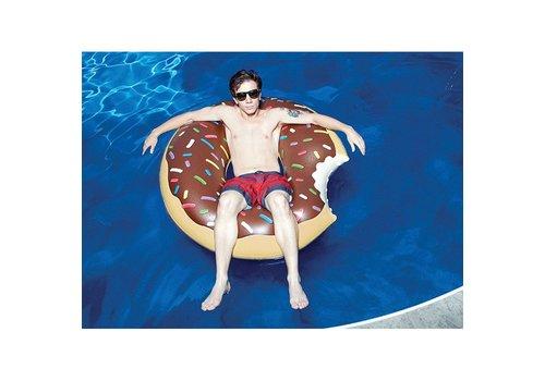 Opblaasbare zwemband chocolade donut