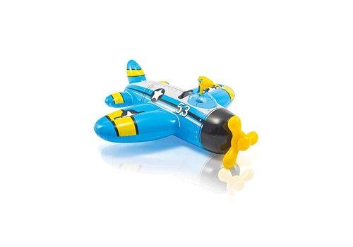 Intex opblaas vliegtuig met waterpistool