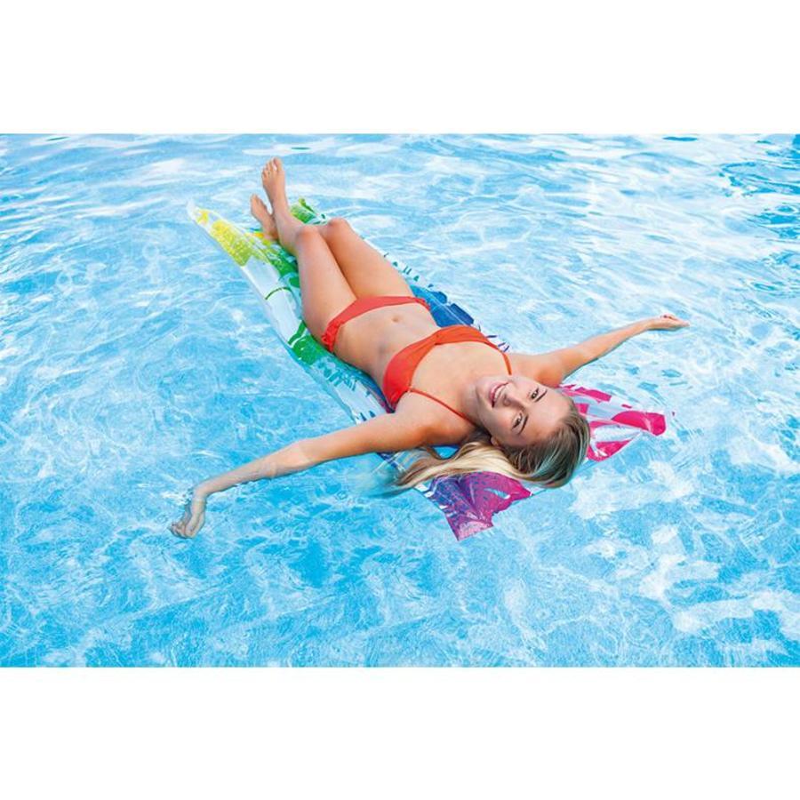 Intex bloemen luchtbed voor in zwembad verkrijgbaar in meerdere kleuren!