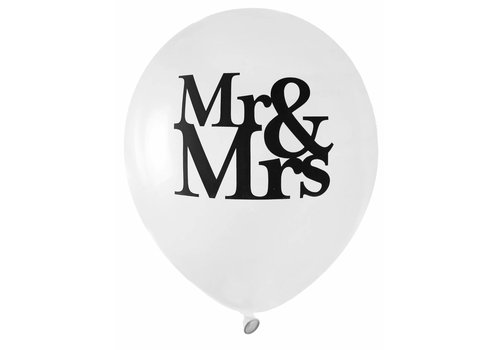Ballon Mr en Mrs (8 stuks)