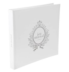 Perfect Decorations Gastenboek wit Just Married