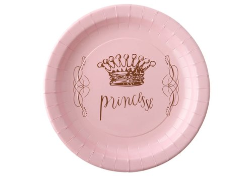 Assiette Princesse rose