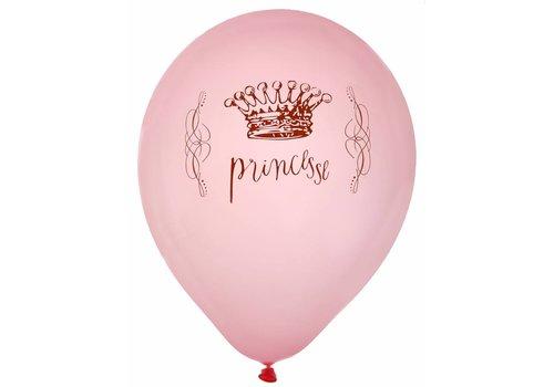 Roze ballonnen prinses (8 stuks)