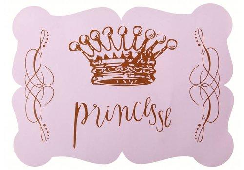 Roze placemats prinses (6 stuks)