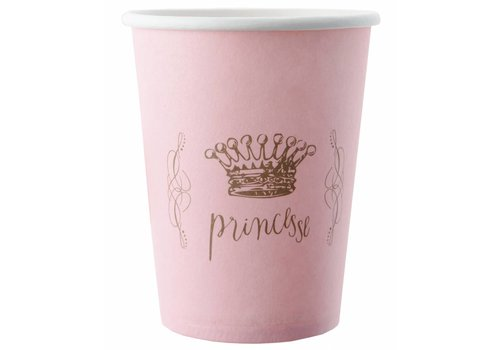 Roze bekertjes prinses (6 stuks)