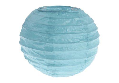 Lampion blauw (2 stuks) diameter 10 cm