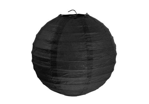 Lampion zwart (2 stuks) diameter 10 cm