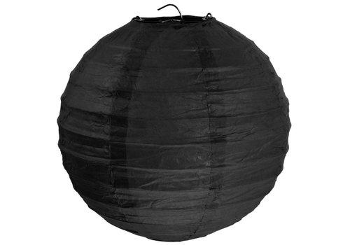 Lampion zwart diameter 50 cm