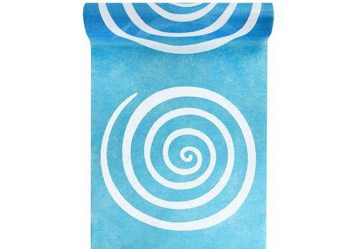 Tafelloper Spiraal blauw