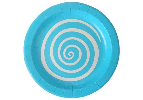 Bordjes spiraal blauw (10 stuks)