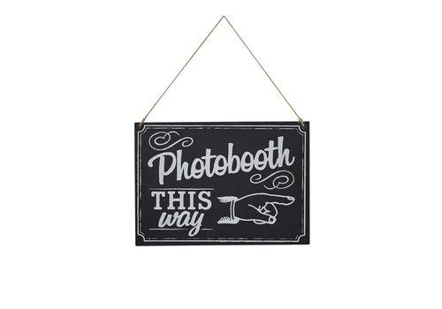Photobooth this way bordje
