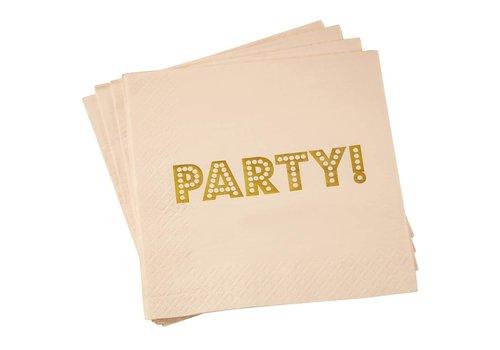 Servet party roze (20 stuks)