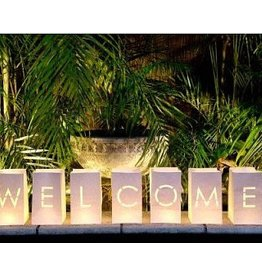Perfect Decorations Candle Bag wit letters