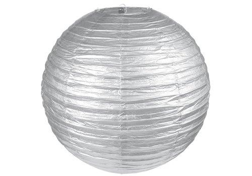 Lampion zilver diameter 20 cm