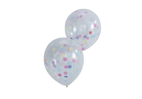 Confetti ballon (5 stuks)