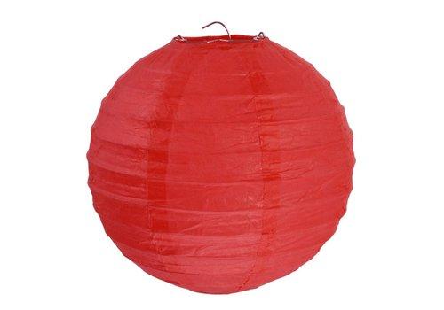 Lampion rood diameter 30 cm (2 stuks)
