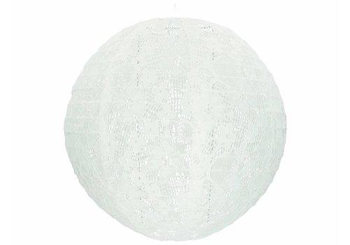 Lampion wit kant 30 cm