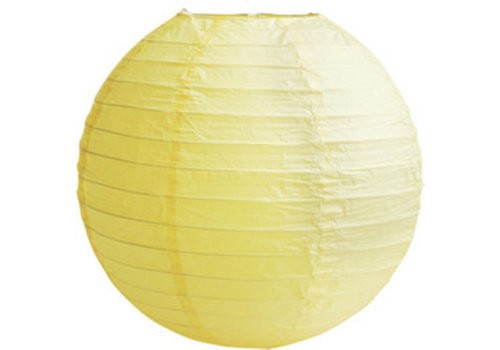Lampion geel diameter 20 cm (2 stuks)