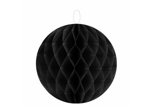 Papieren honeycombs zwart  20 cm (2 stuks)