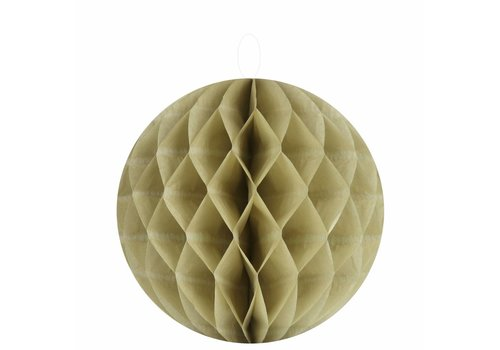Papieren honeycombs taupe 20 cm (2 stuks)