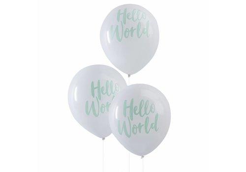 Ballons Hello World (10 pièces)