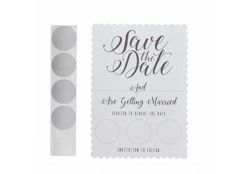 Save the date kraskaarten (10 stuks)