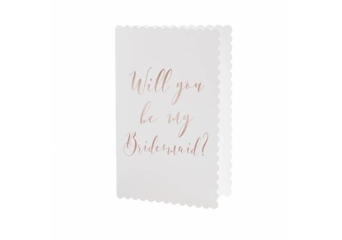 Will you be my bridemaid kaart