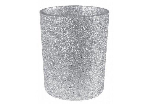 Theelichthouder glamour zilver