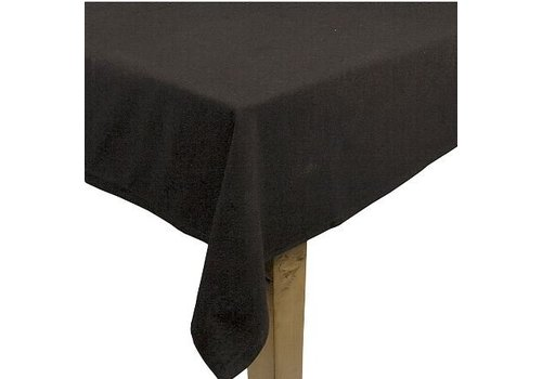 Zwart linnen tafelkleed klein