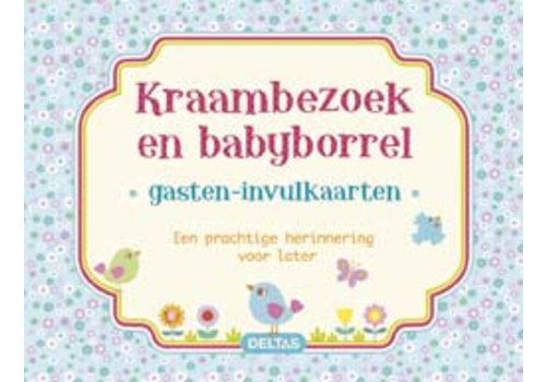 Invul gastenkaart baby jongen (40 kaarten)