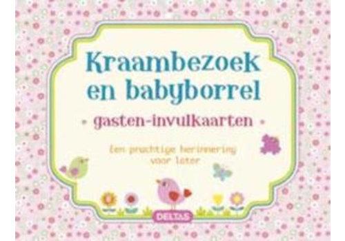 Invul gastenkaart baby meisje (40 kaarten)