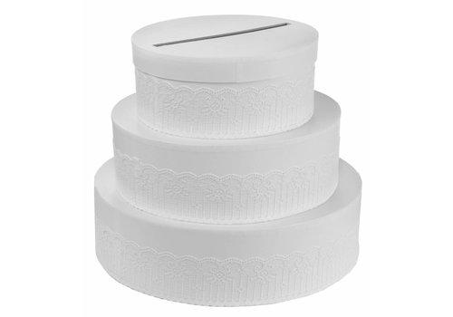 Enveloppendoos wit taart