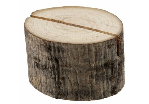 Kaarthouder boomstam hout (2 stuks)