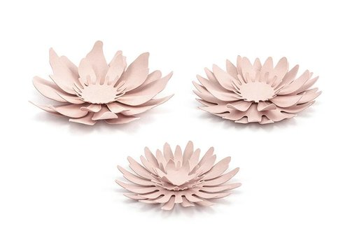Papieren bloem roze (3 stuks)