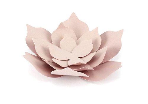 Papieren lotus bloem roze (3 stuks)
