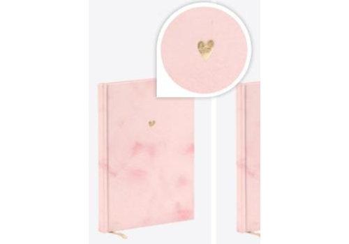 Notitieboek roze hartje
