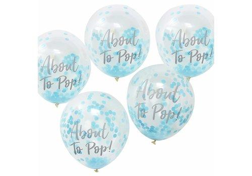Ballonen About to pop blauw (10 stuks)