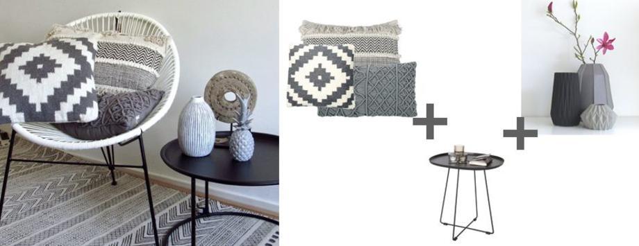 Zwart wit grijstinten als accentkleur in je interieur