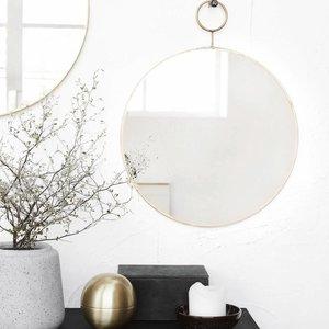 house doctor messing ronde spiegels the loop zeer fraai bric. Black Bedroom Furniture Sets. Home Design Ideas