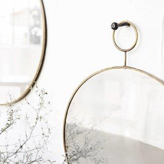 House Doctor Ronde spiegel The Loop ø38cm en ø32cm