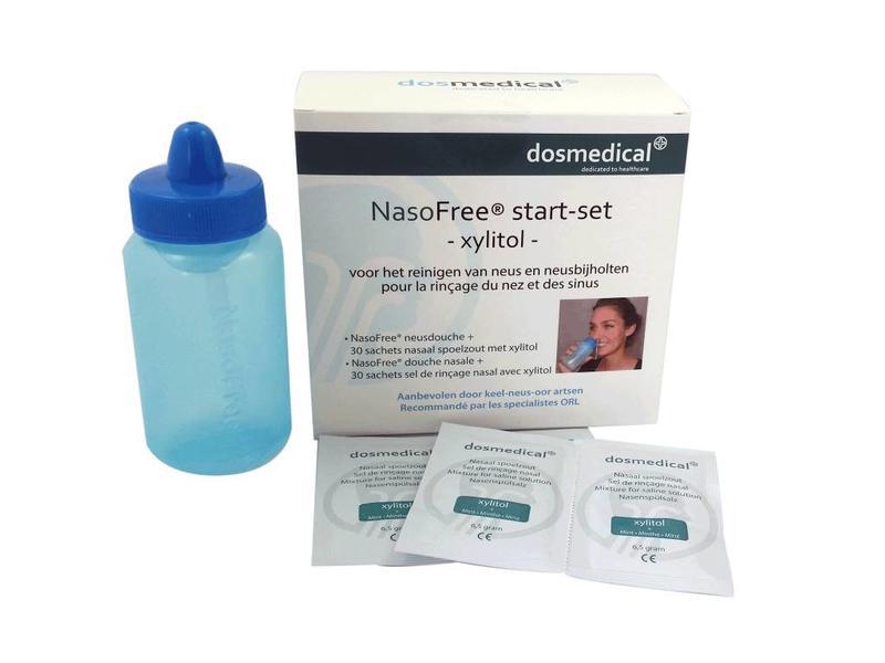 NasoFree startset met 30 of 60 sachets nasaal spoelzout (* maak uw keuze)