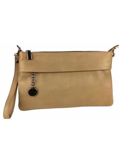 Clutch Leather Camel