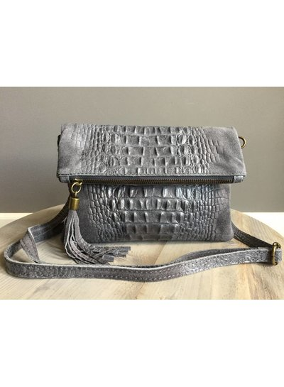 Clutch Croco Grey